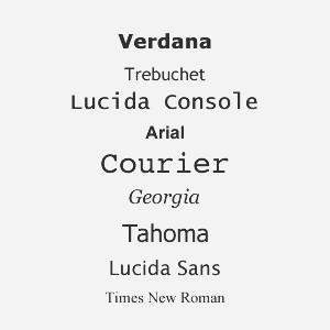 Websichere Schriftarten